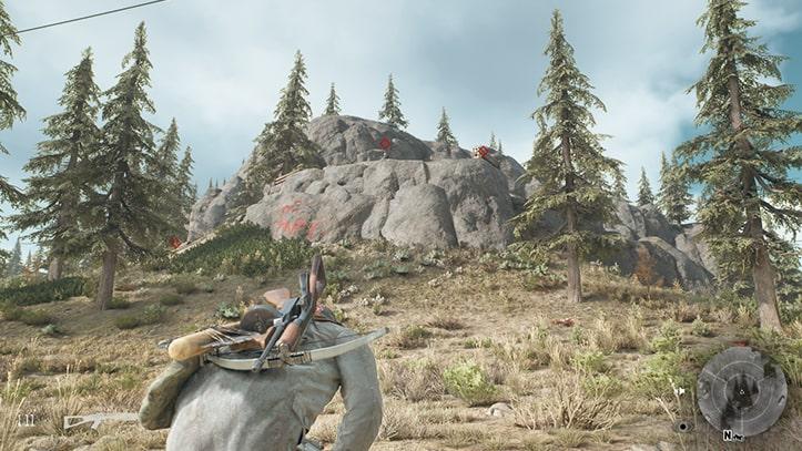 野盗キャンプの風景