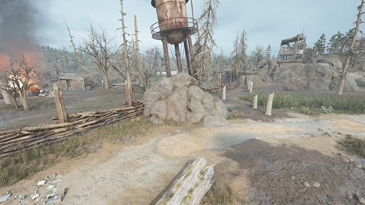 ベアベイの野盗キャンプの風景