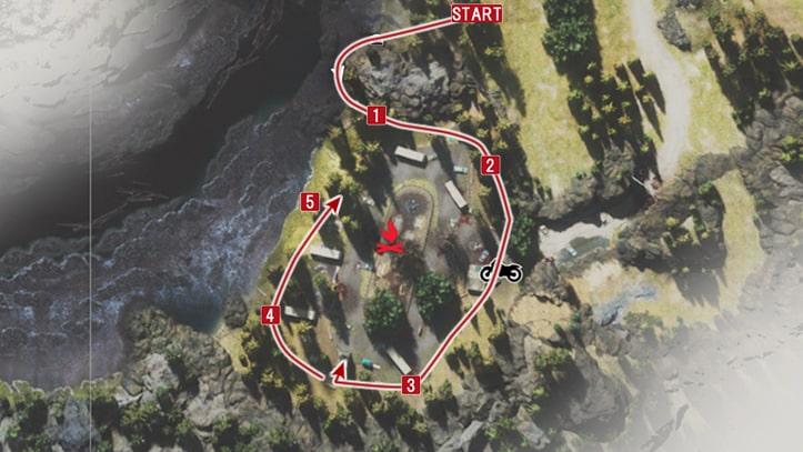 レッドウッドパーク襲撃の攻略マップ