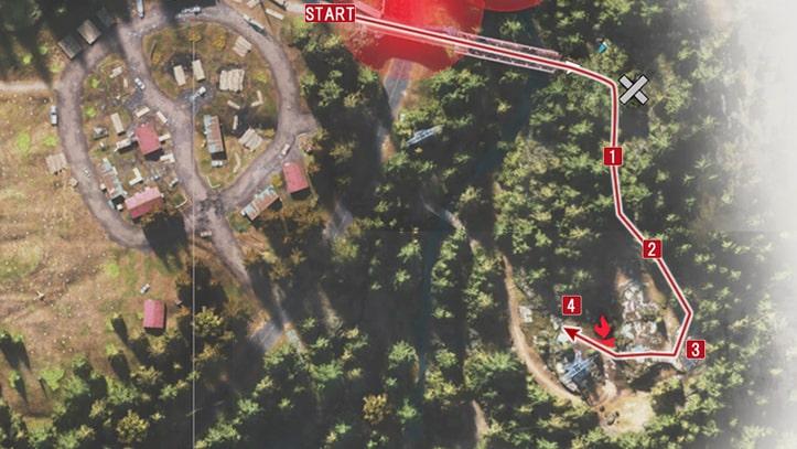 ホースクリークの野盗キャンプの攻略マップ