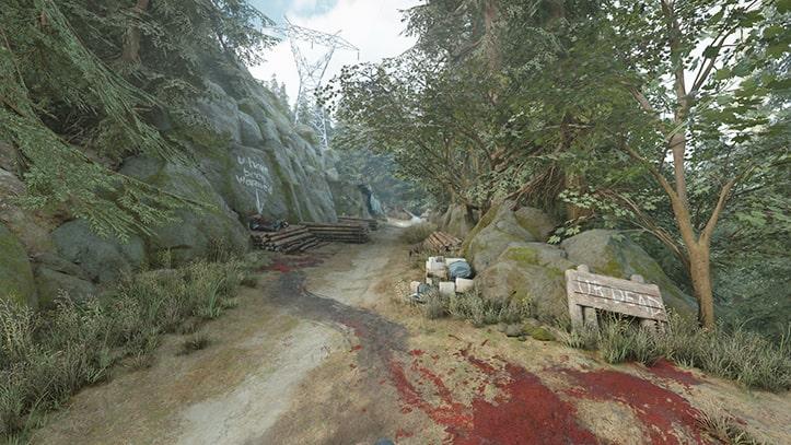 ホースクリークにある野盗キャンプの風景画像
