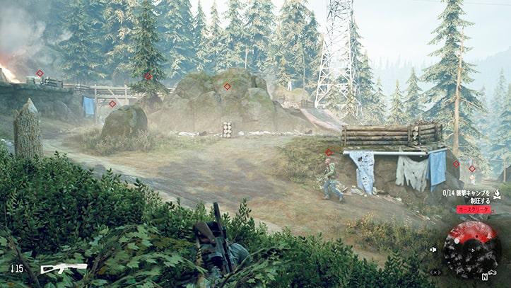 ホースクリークの野盗キャンプの攻略ポイントその2