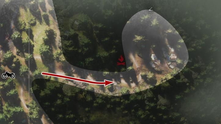 野盗キャンプのマップ