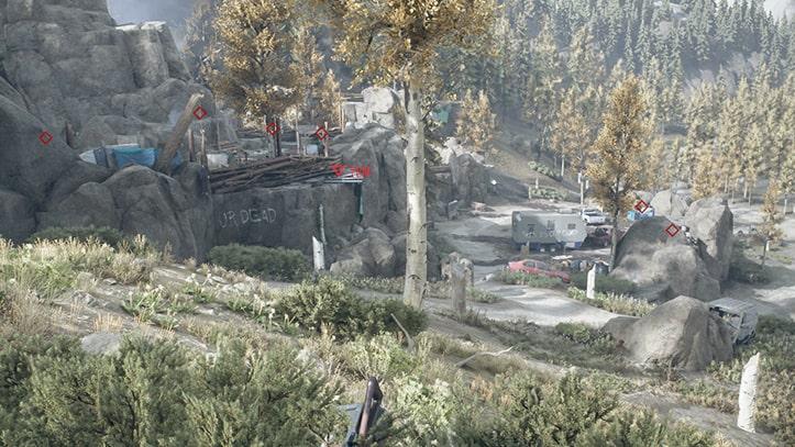 襲撃キャンプ殲滅『ディアボーン』の風景