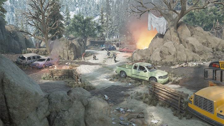 襲撃キャンプ殲滅『バリーレイク』の風景