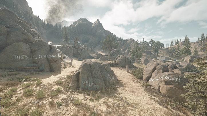 襲撃キャンプ殲滅・ベアクリークの風景