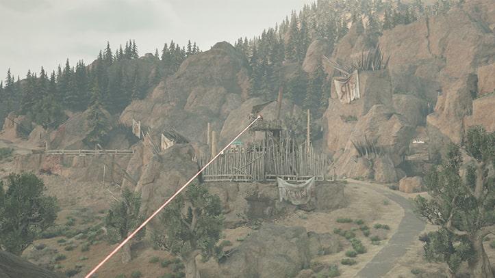 襲撃キャンプ殲滅・ブラッククレイターの風景