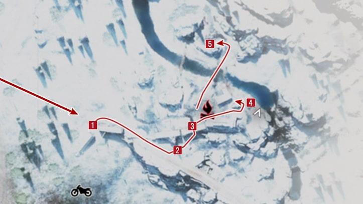 カスケードレイク鉄道の野盗キャンプ攻略マップ