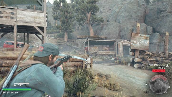 野盗キャンプの攻略ルートその2