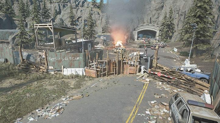 スプルースレイクの野盗キャンプの風景