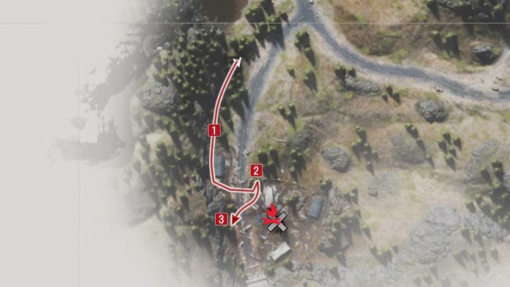 野盗キャンプの攻略マップ