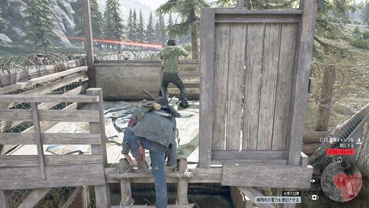 野盗キャンプの攻略ルート2