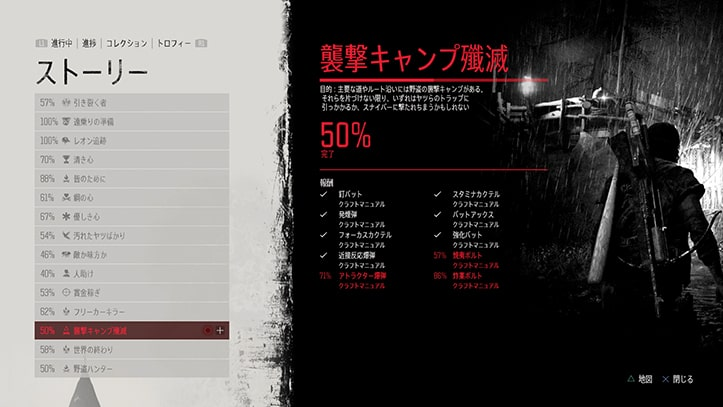 『襲撃キャンプ殲滅』のミッション画像