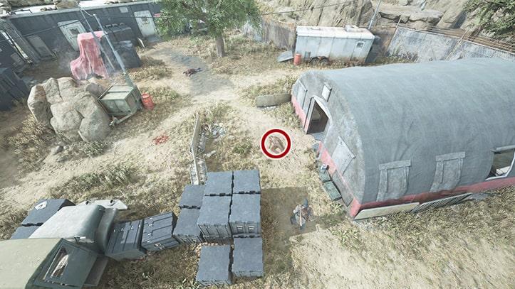 2回目のスウォーマーの遺体の場所