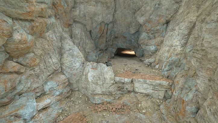 デッドコヨーテ溶岩洞の入口その2