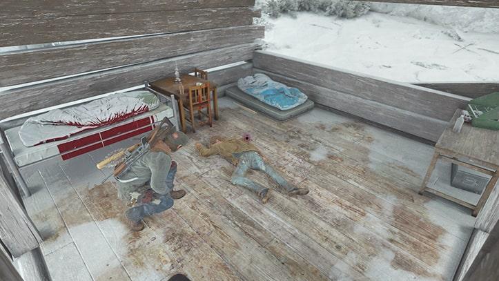 アナーキストのスパイがいる目的地の小屋