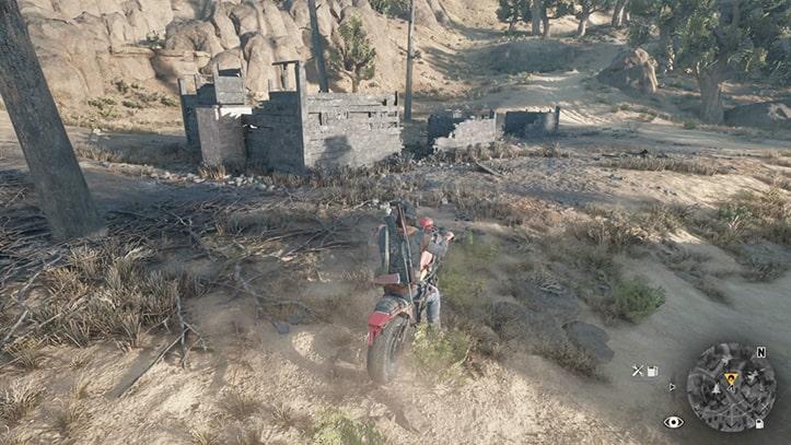 目的地の廃墟