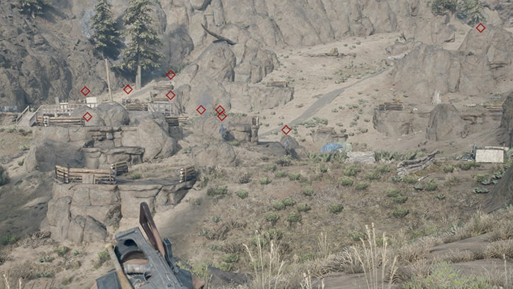 ミッションのフィールドにいる野盗たちの画像