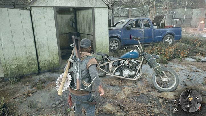 オリアリー山に駐車されているブーザーのバイク