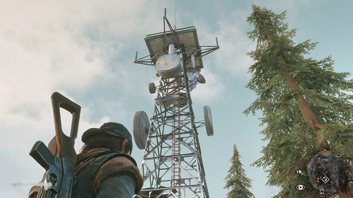 電波塔の風景画像
