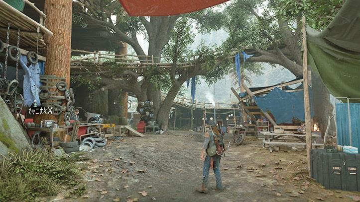 デイズゴーンのキャンプ画像