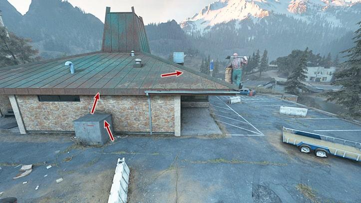 屋根への上り方