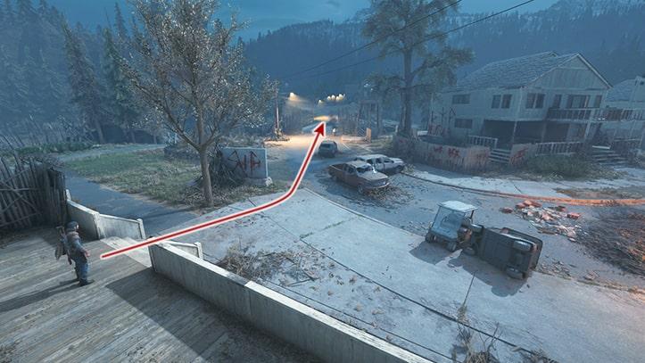 次の目的地の場所の画像