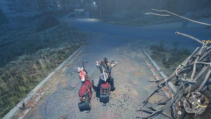 リッパーのバイクに乗る画像