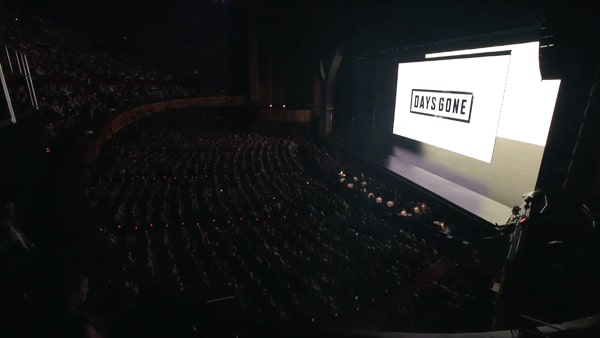 E3 2016の時のDays Gone(デイズゴーン)放送時の会場の様子