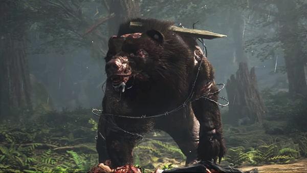 ゾンビ熊の登場シーン