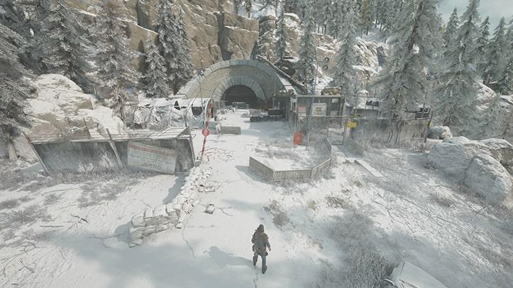 days goneのサンティアムトンネルのNEROの検問所の風景