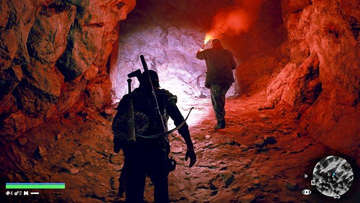 ラッキーラッド坑道を歩く光景