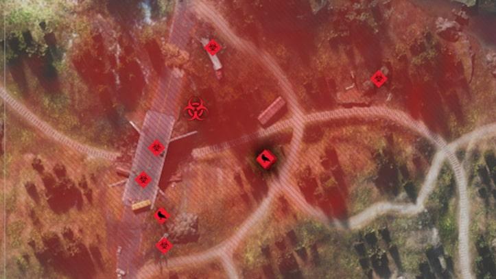カスケードレイク鉄道にあるフリーカーの巣の場所画像