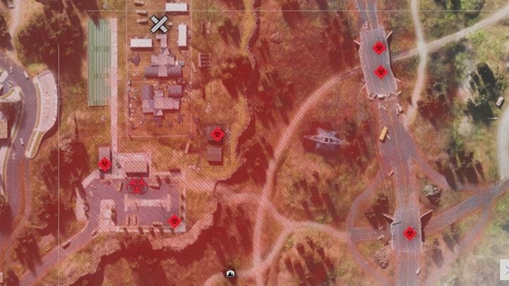 コミュニティカレッジにあるフリーカーの巣の場所マップ
