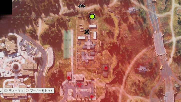 NEROの検問所への入り方のマップ