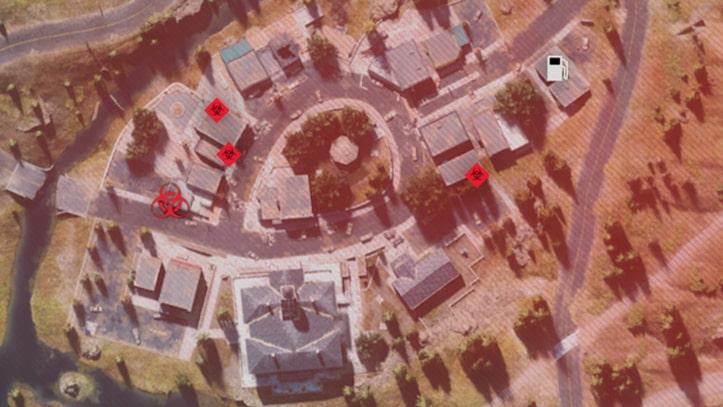 フリーカーの巣の場所マップ