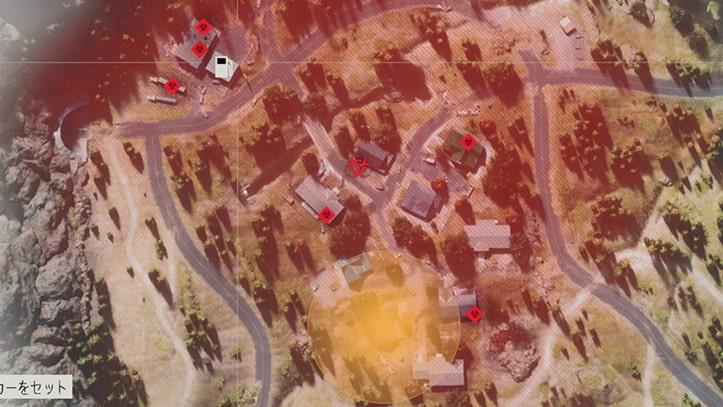 ローグキャンプ内にあるフリーカーの巣の場所