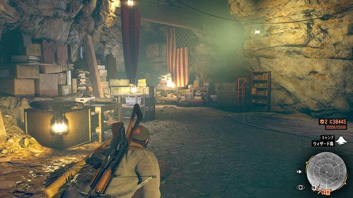 ギャレット大佐の部屋の場所画像