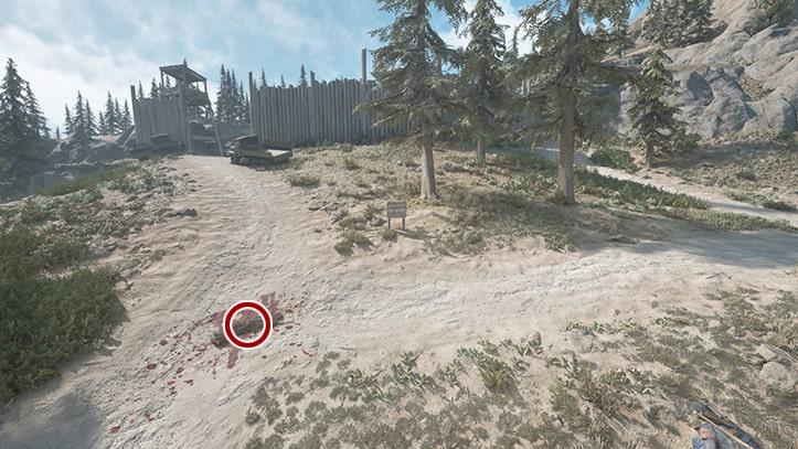調べる遺体の場所