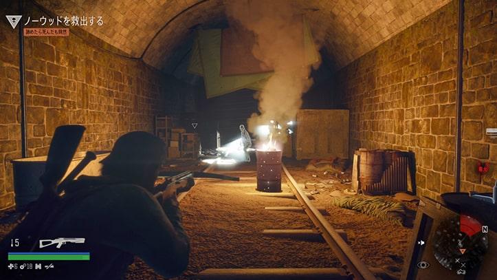 ノーウッドを救出するトンネルの風景