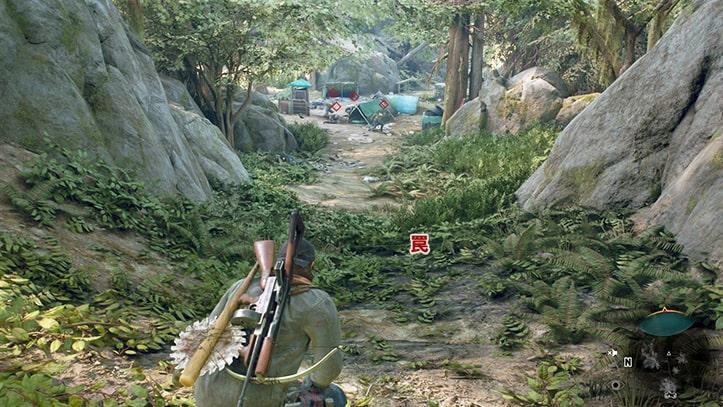 次の目的地のキャンプ