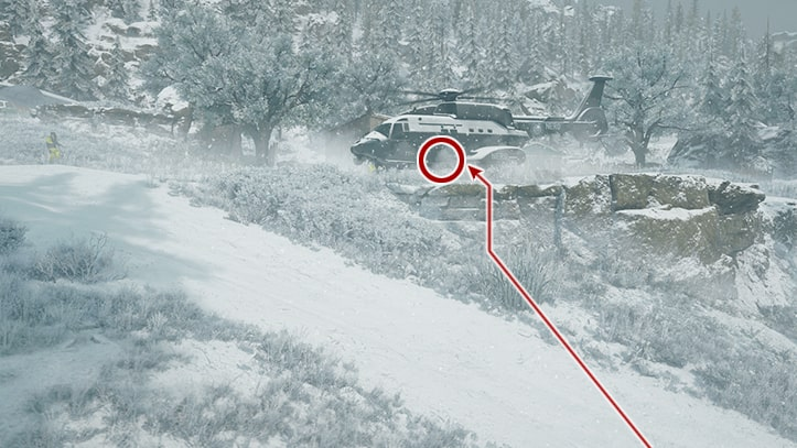 NEROのヘリに追跡装置を取り付ける攻略ルート画像