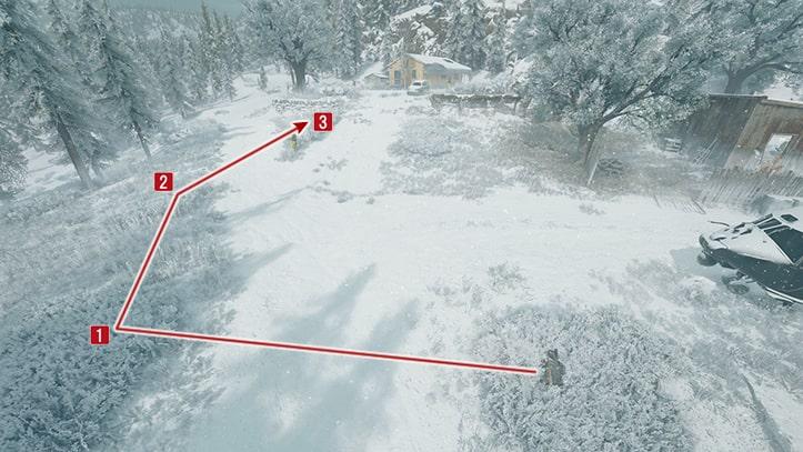 NEROの調査員に近づくための攻略ルート画像その1