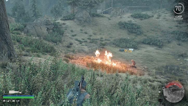 フリーカーを火炎瓶で燃やしている画像