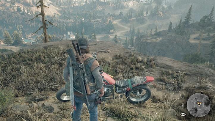 ディーコンのバイクまで戻るシーン