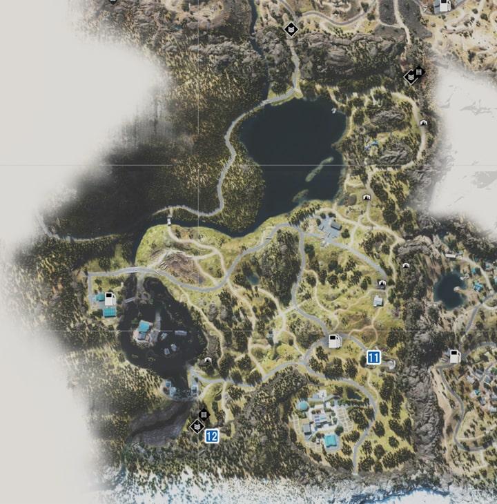 アイアンビュート地方で入手できるIPCAのパーツの場所のマップ