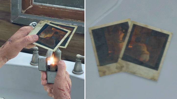 ディーコンが燃やしている写真画像