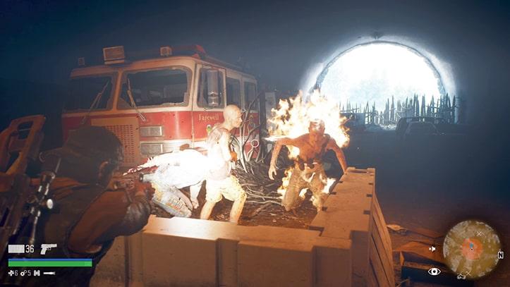 炎に包まれながら突進してくるリッパーの画像