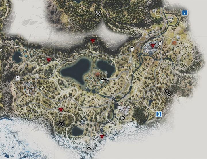 ロストレイク地方にあるNEROの調査現場のマップ