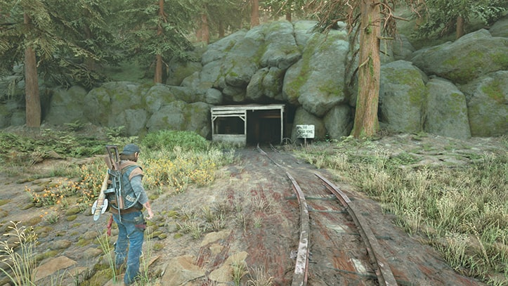 ホワイトキング坑道にあるNEROの調査現場